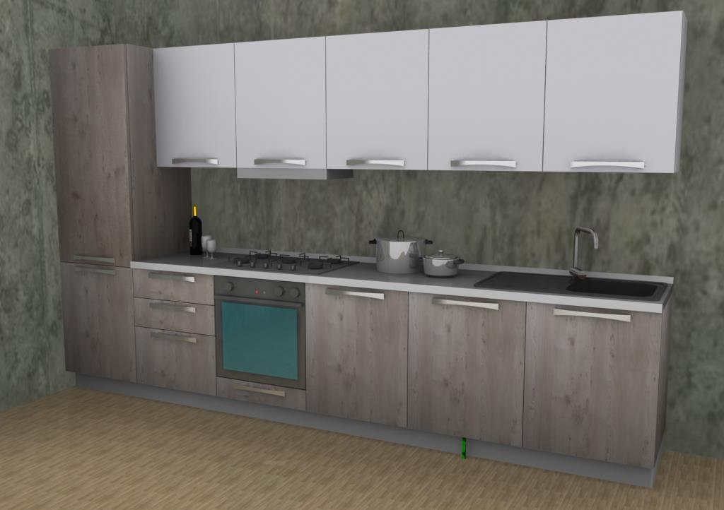 Stosa cucine cucina maya moderna laminato materico bianca   cucine ...