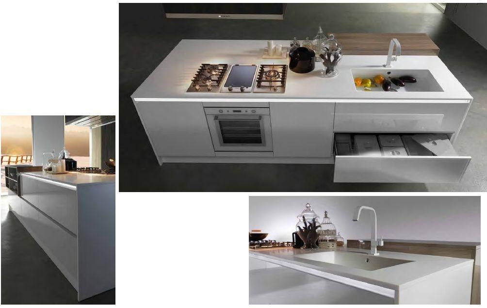 Promo isola con top in corian cucine a prezzi scontati - Cucina con elettrodomestici ...