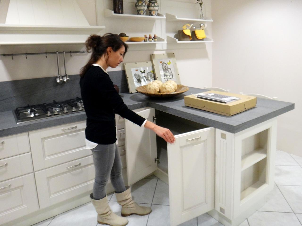 cucina lube cucine agnese classica legno bianca - cucine a prezzi ... - Arredo Bagno Lube