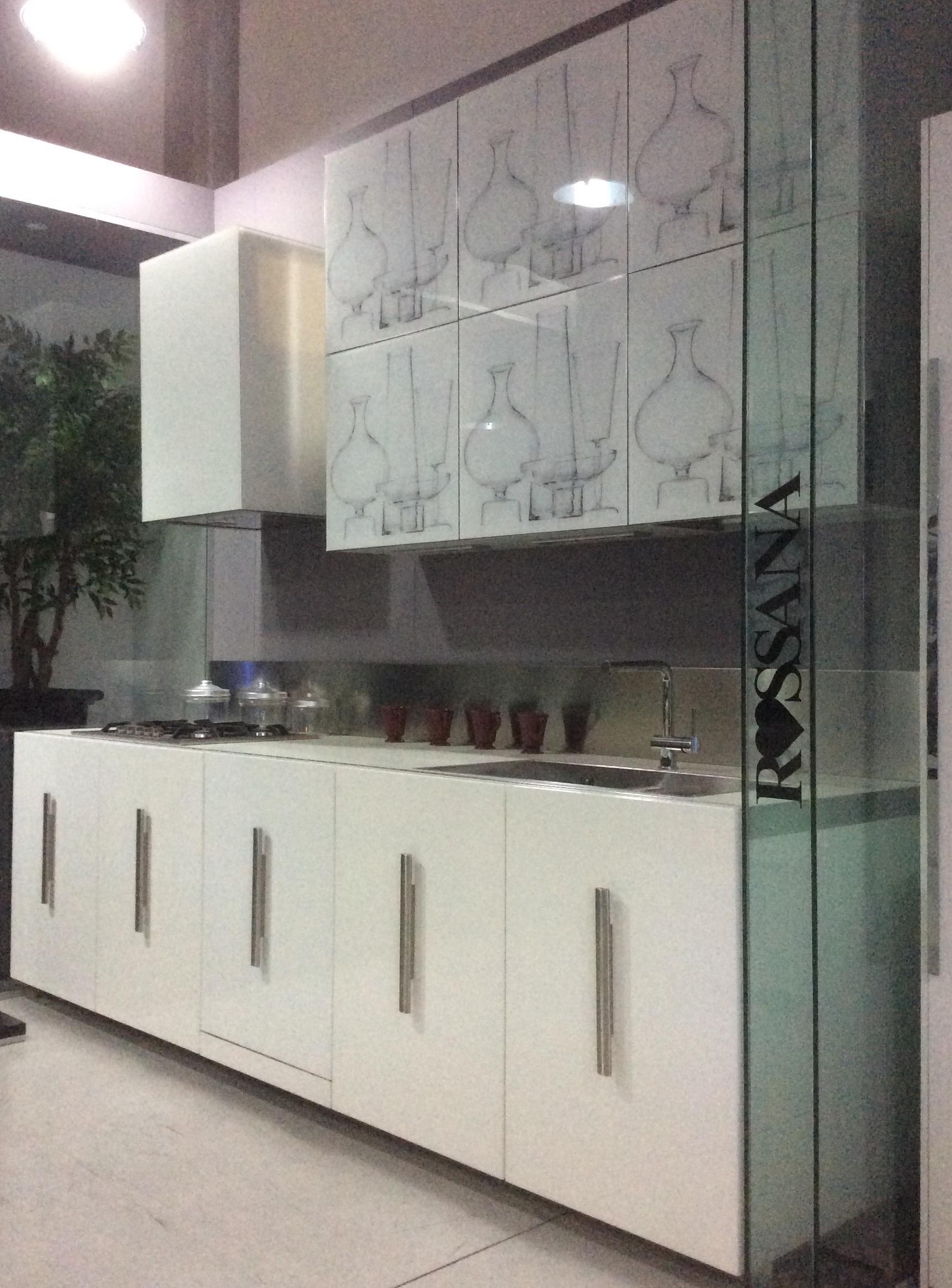 Cucina rb rossana etna vetro decoro design laccato - Rivestimento cucina vetro ...