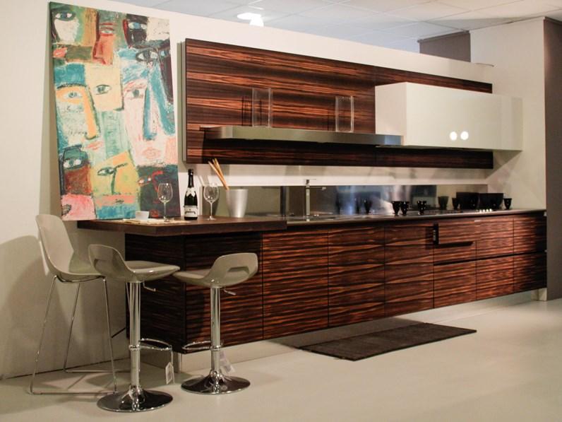 Cucina High teak Moderne Legno Bianca