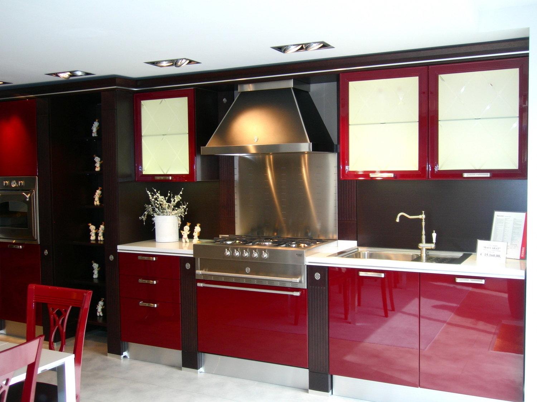 Scavolini baccarat rossa cucine a prezzi scontati - Prezzi cucine scavolini moderne ...