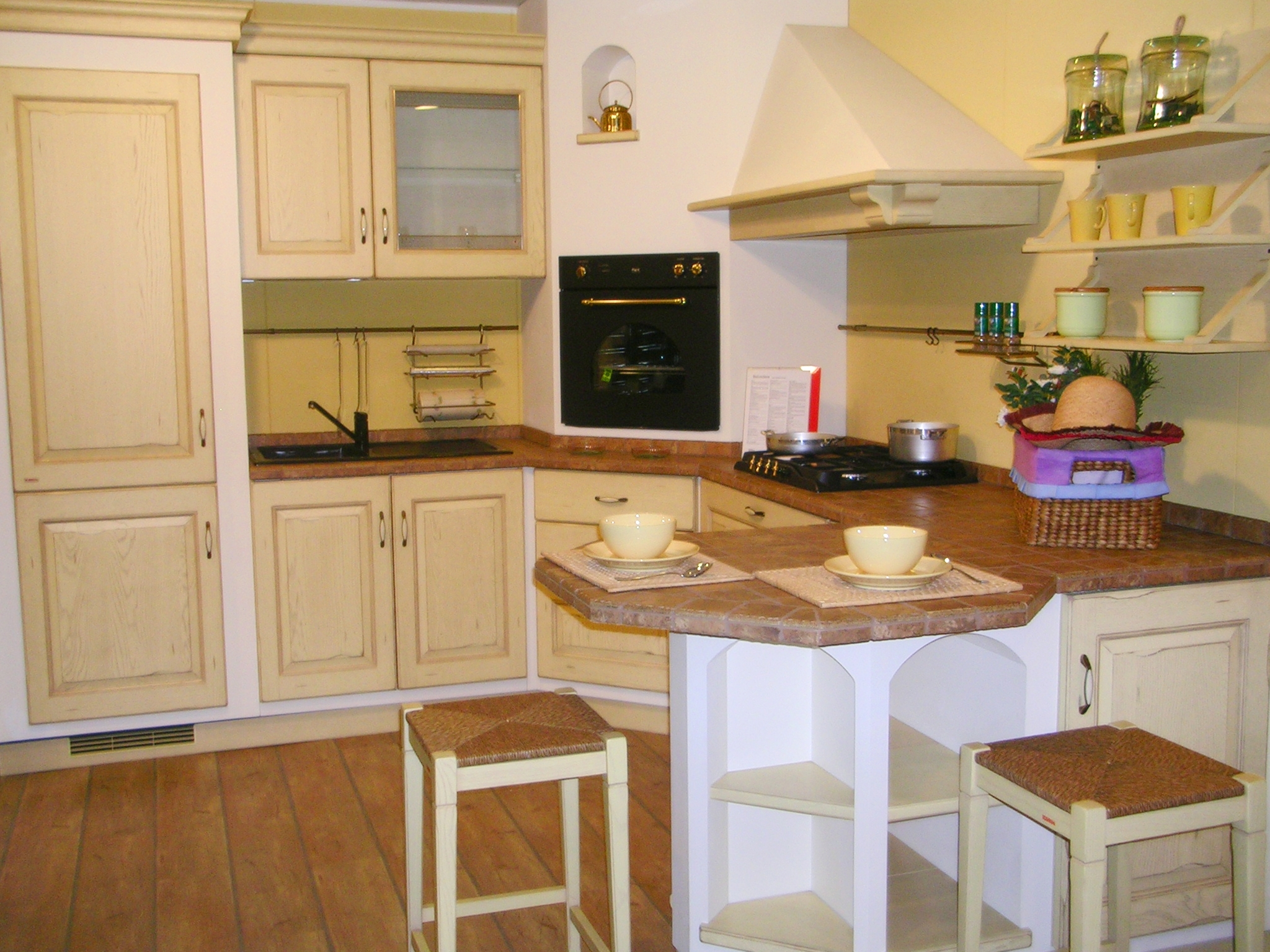 Scavolini belvedere gialla 14523 cucine a prezzi scontati - Cucine scavolini country ...