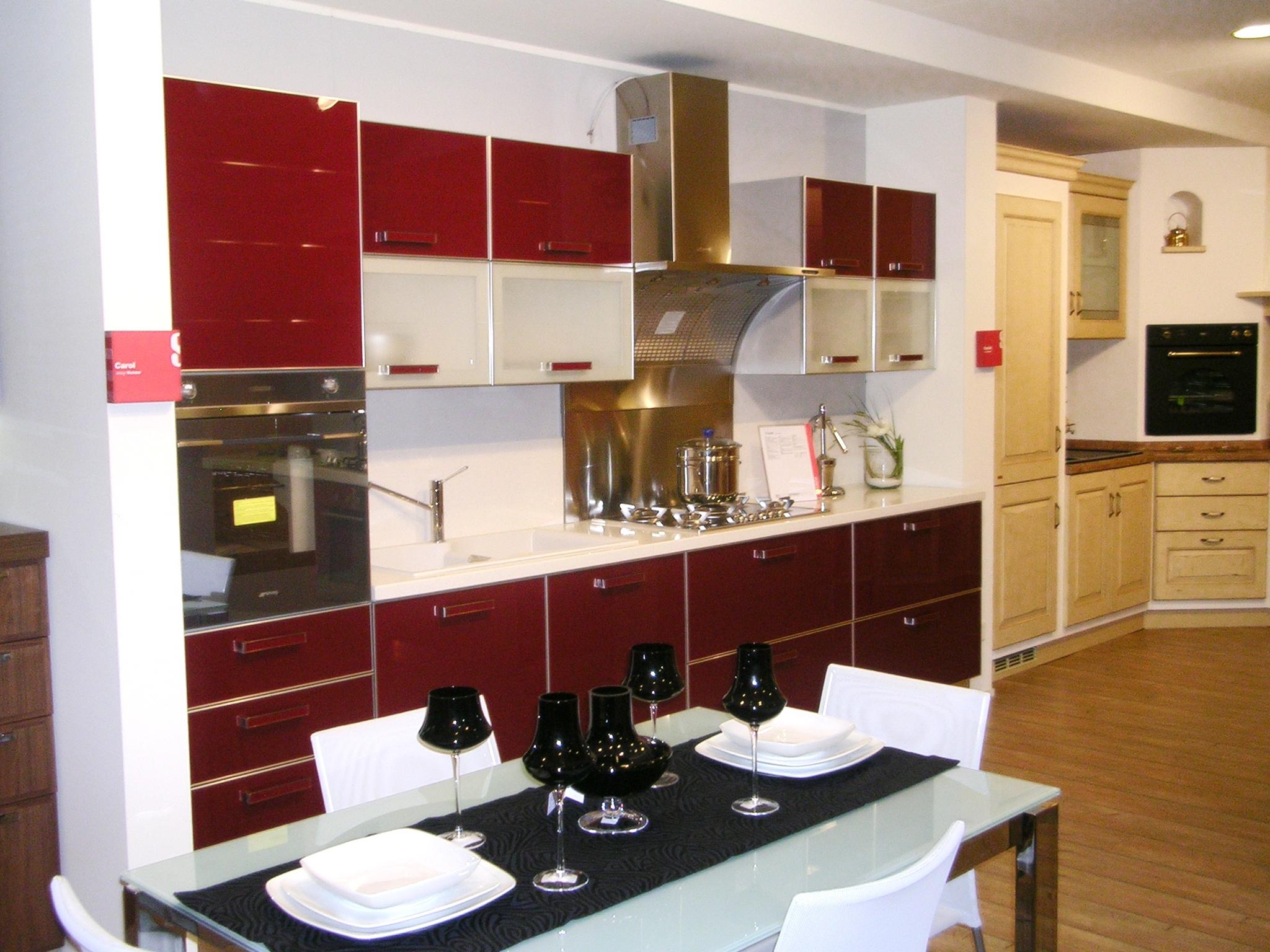 Scavolini crystal vetro rossa 14520 cucine a prezzi scontati - Cucine scavolini country ...