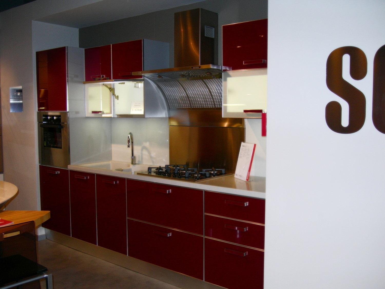 Scavolini crystal vetro rossa 4614 cucine a prezzi scontati - Cucina rossa scavolini ...