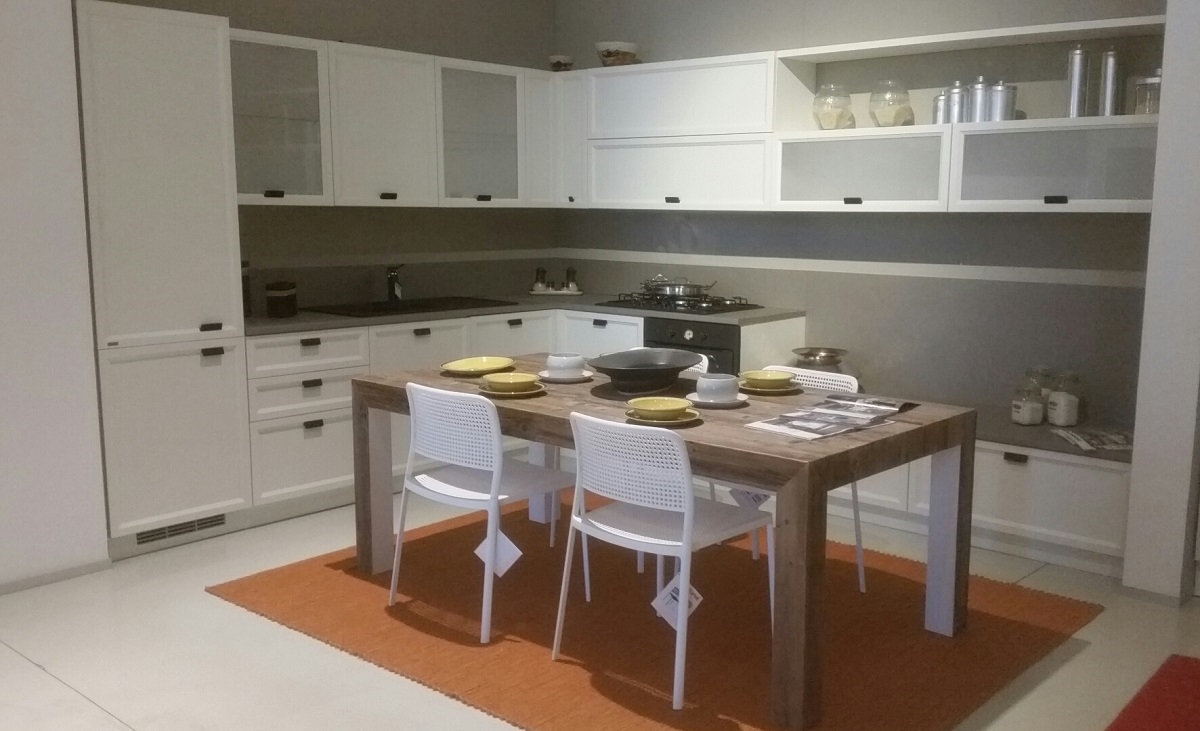 Scavolini cucina atelier telaio legno scontata 40 cucine a prezzi scontati - Scavolini cucine offerte ...