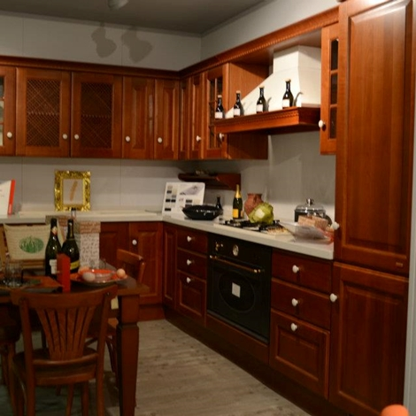 Scavolini cucina baltimora classico legno rovere scontata for Cucina baltimora scavolini