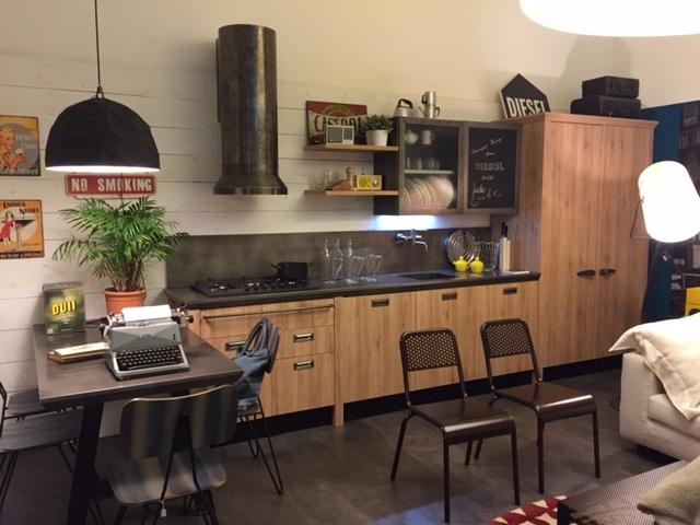 Scavolini cucina diesel industriale laminato materico - Blocco cucina 160 cm ...