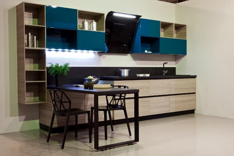 Scavolini cucina mood design laminato materico larice - Cucina frigo libera installazione ...
