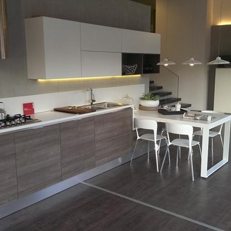 Scavolini cucina mood moderna laminato opaco bianca for Cucina moderna prezzi