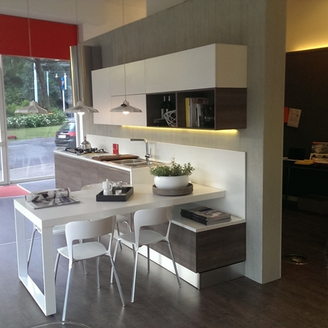 Scavolini Cucina Mood Moderna Laminato Opaco bianca - Cucine a prezzi scontati