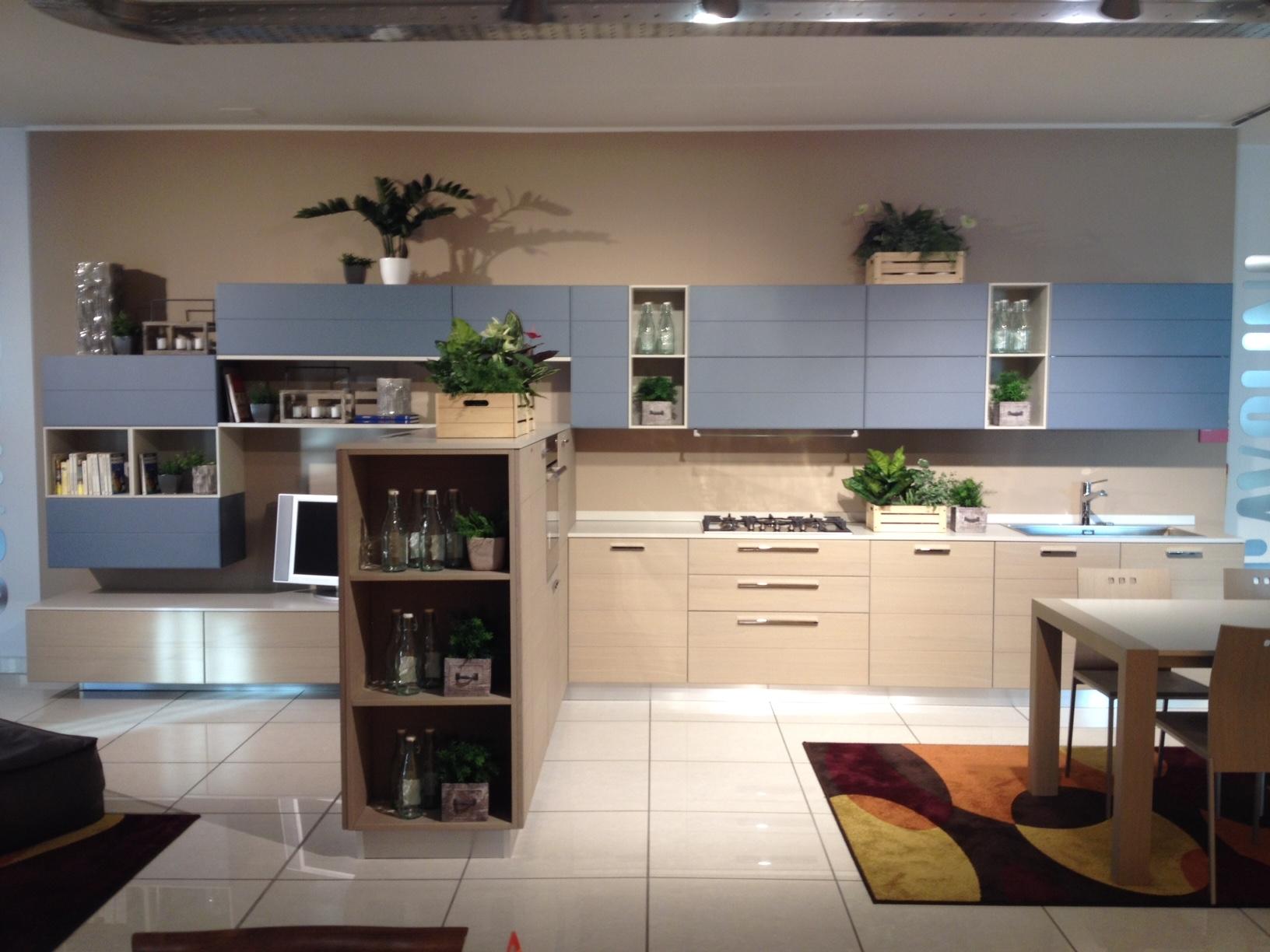 Scavolini cucina open dogata legno cucine a prezzi scontati - Cucina nera legno ...