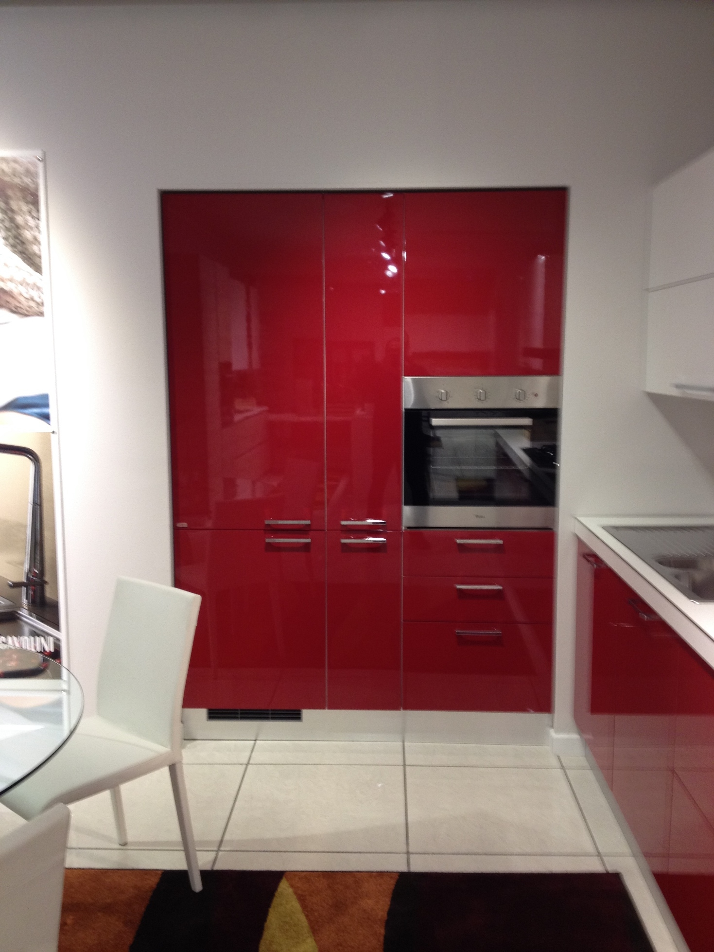 Scavolini Cucina Sax Moderna Laccato Lucido rossa - Cucine a ...