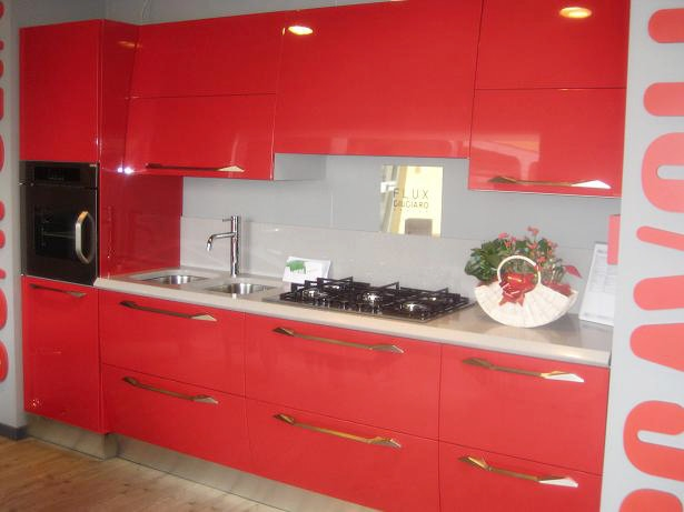 Cucine Rosse Moderne. Cucina Moderna Elegante Beautiful Piastrelle ...