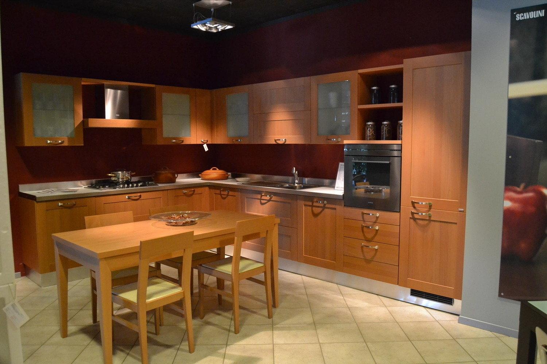 Vista D'insieme Cucina Life Angolare Con Ante Telaio Ciliegio #724220 1500 1000 Scavolini O Veneta Cucine