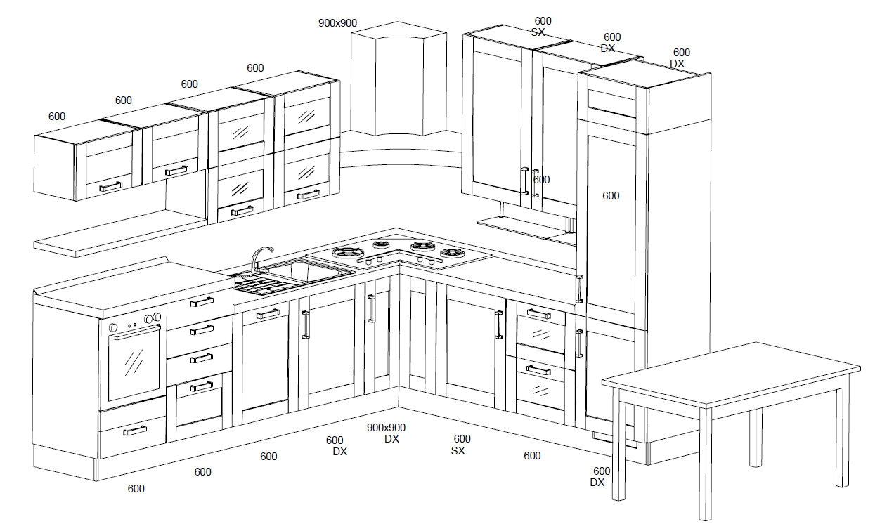 Misure Tavoli Cucina ~ Ispirazione Interior Design & Idee Mobili