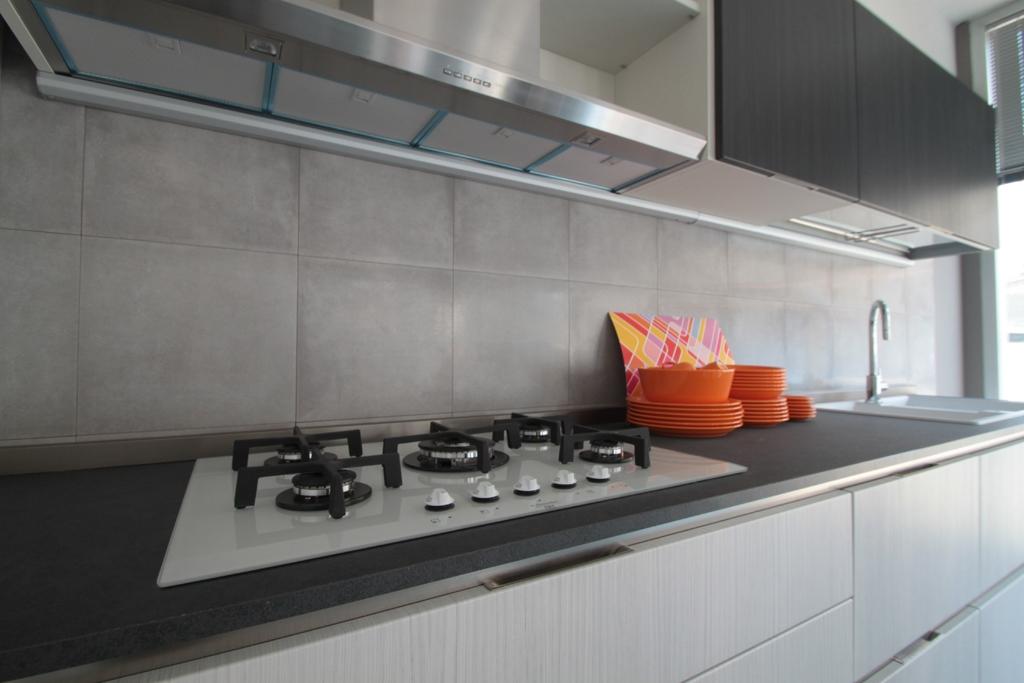 Cucina veneta cucine carrera go moderna laminato materico - Cucina grigio scuro ...