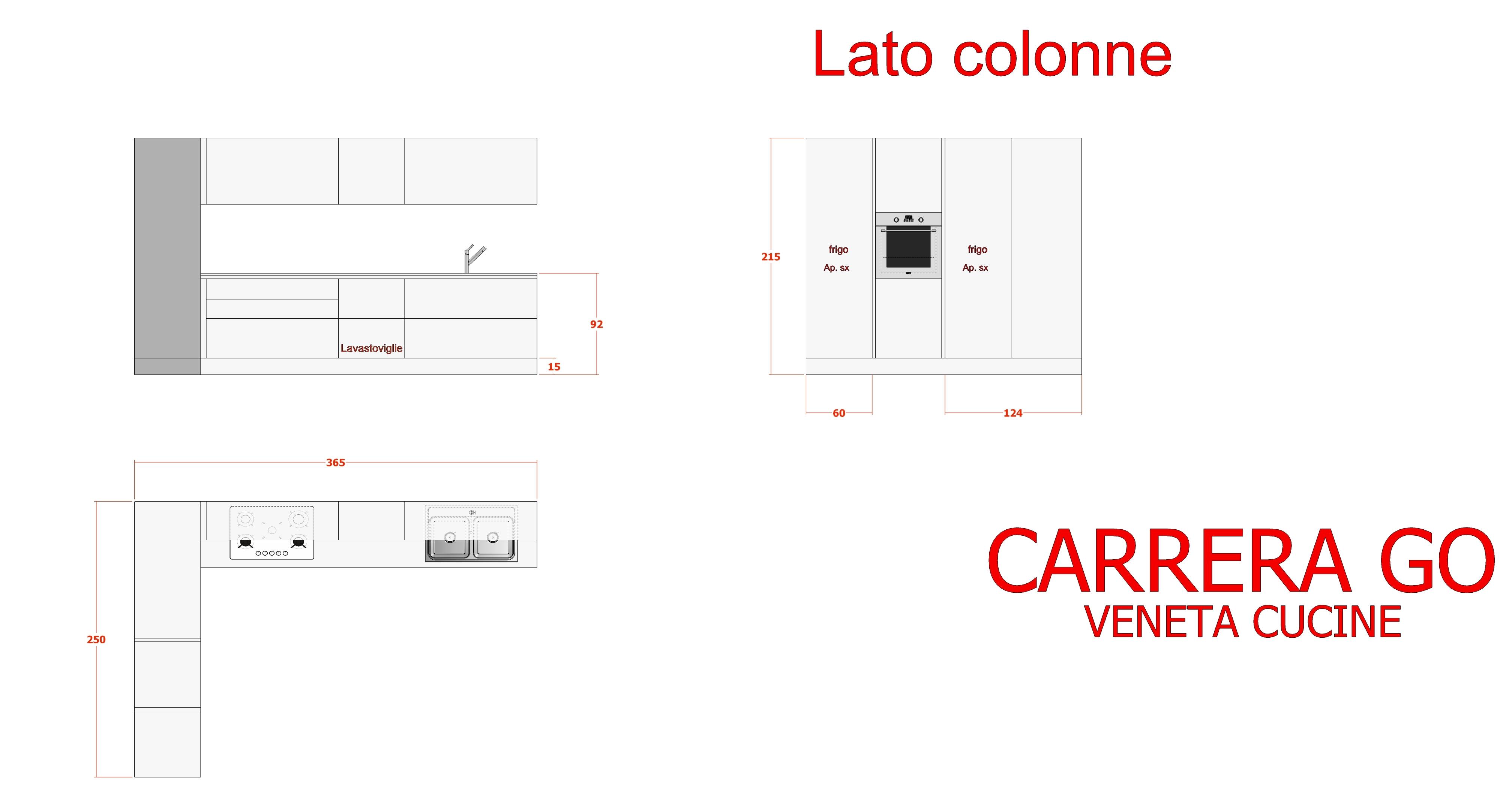 Cucina Veneta Cucine Carrera Go Moderna Laminato Materico Cucine A  #B51616 4000 2166 Veneta Cucine O Cesar