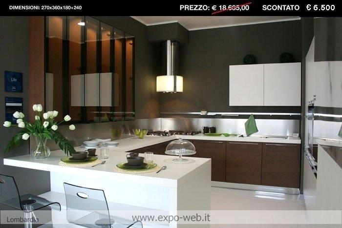 Stosa cucina moderna life noce cucine a prezzi scontati - Life cucine prezzi ...
