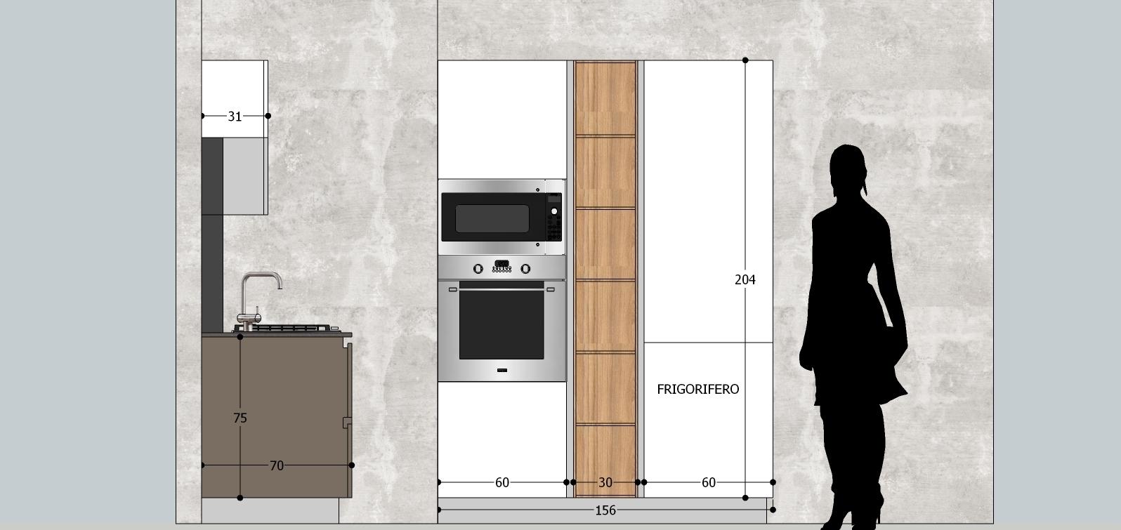 Cucina stosa cucine alev offerta esposizione cucine a for Cucina moderna altezza