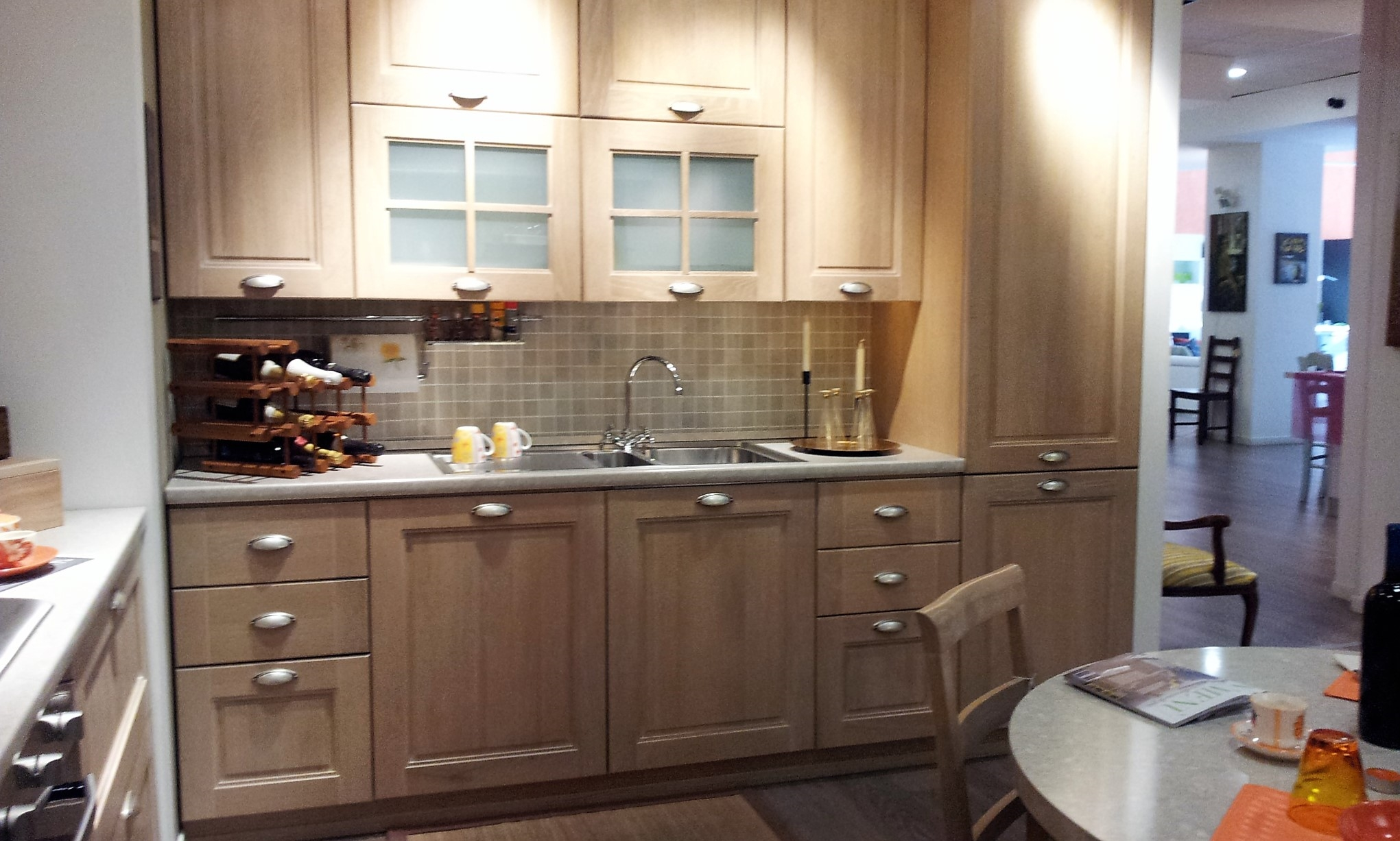 Pin cucina stosa ontario rovere gessato mostra arredamento - Cucina rovere sbiancato e bianco ...