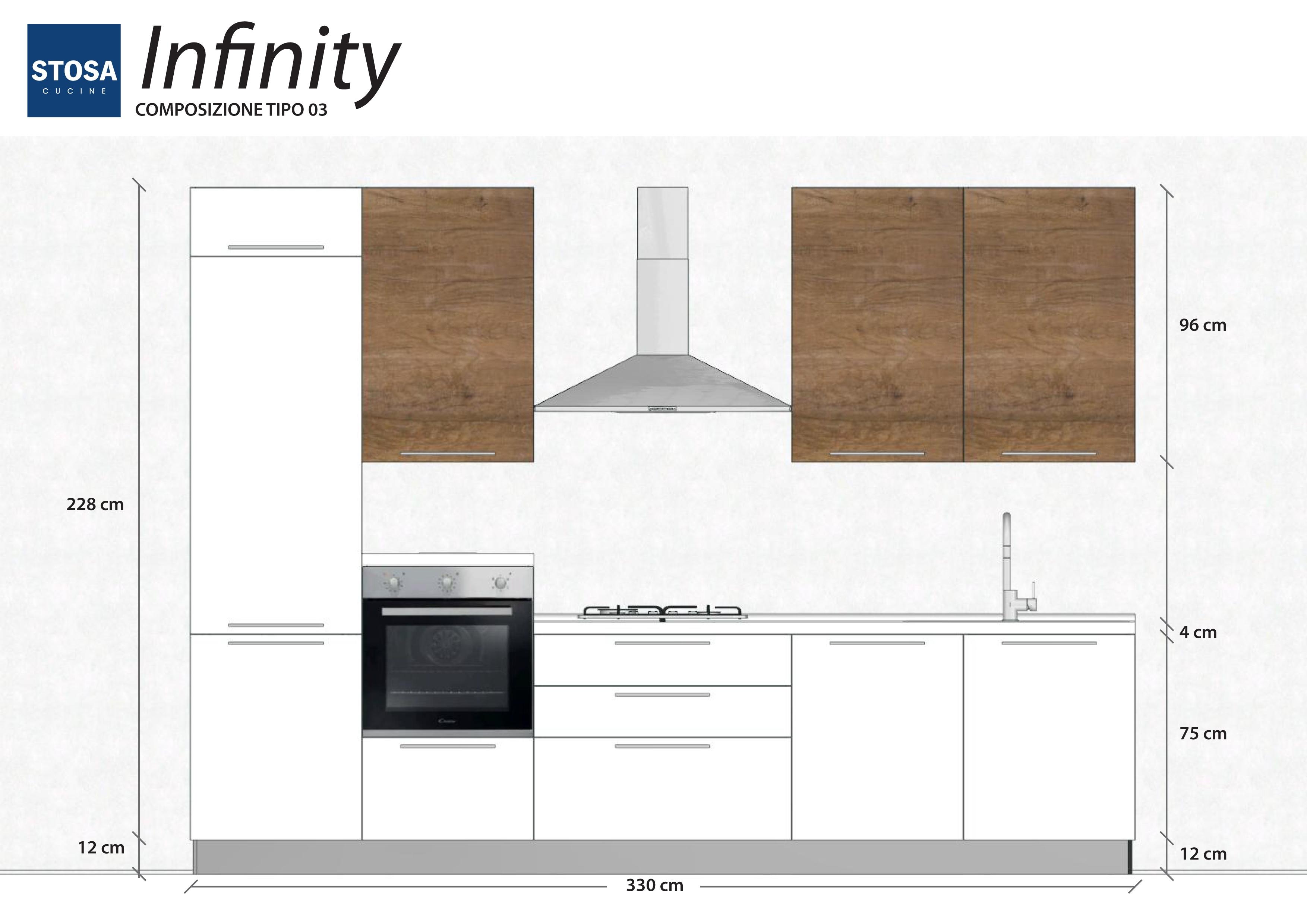 Stosa cucine infinity bloccata cucine a prezzi scontati - Altezza cucina stosa ...