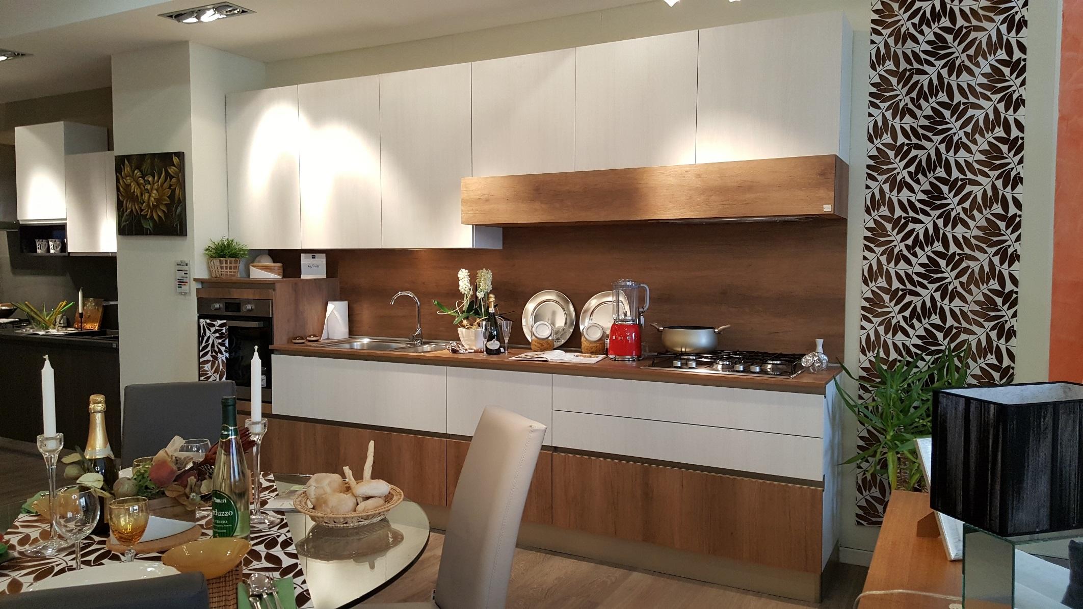 Cucina lineare bianca stosa cucine infinity in promozione - Prezzo cucine stosa ...