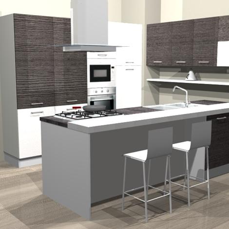 Piccole cucine con isola cucine moderne in legno - Piccole cucine con isola ...