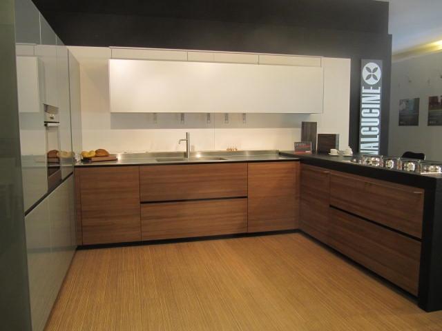 Valcucine cucina artematica moderna legno noce cucine a - Cucina bianca e noce ...