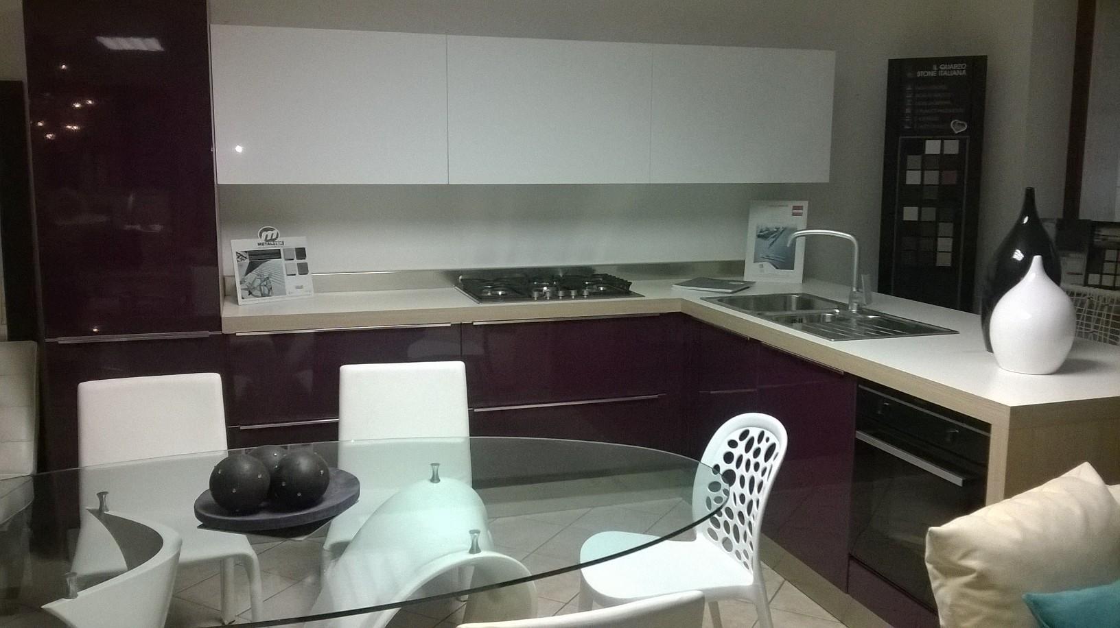 Vendita promozionale cucina con penisola record cucine moderna polimerico lucido cucine a - Cucina moderna con penisola ...