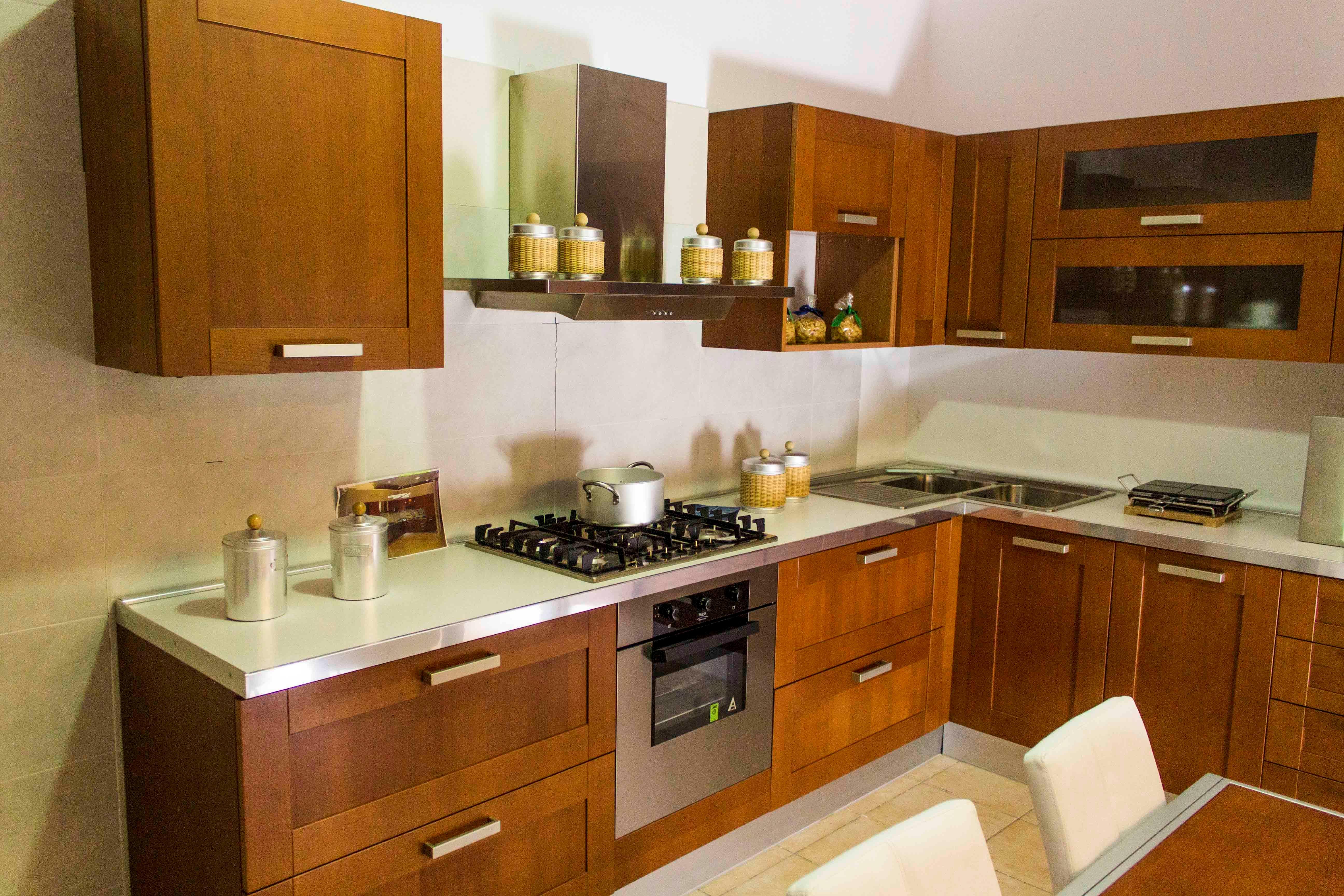 Veneta cucine cucina california colore ciliegio scontato - Cucine ciliegio moderne ...