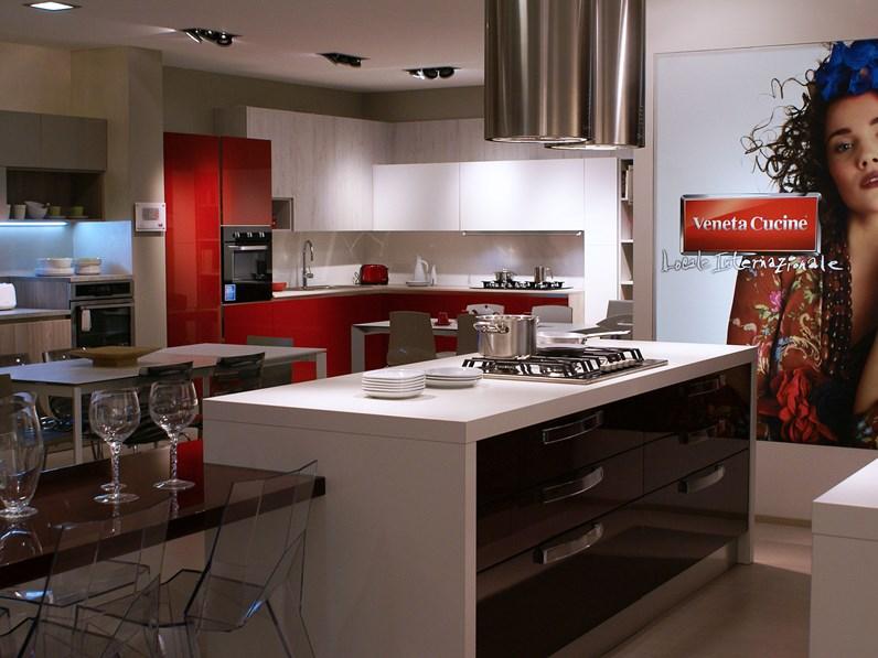 Cucine Cucina Extra avant Moderno Legno Rossa