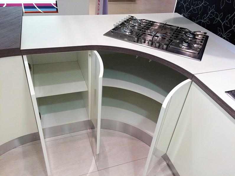 Veneta Cucine Cucina Extra tonda colore bianco scontato del -58 %
