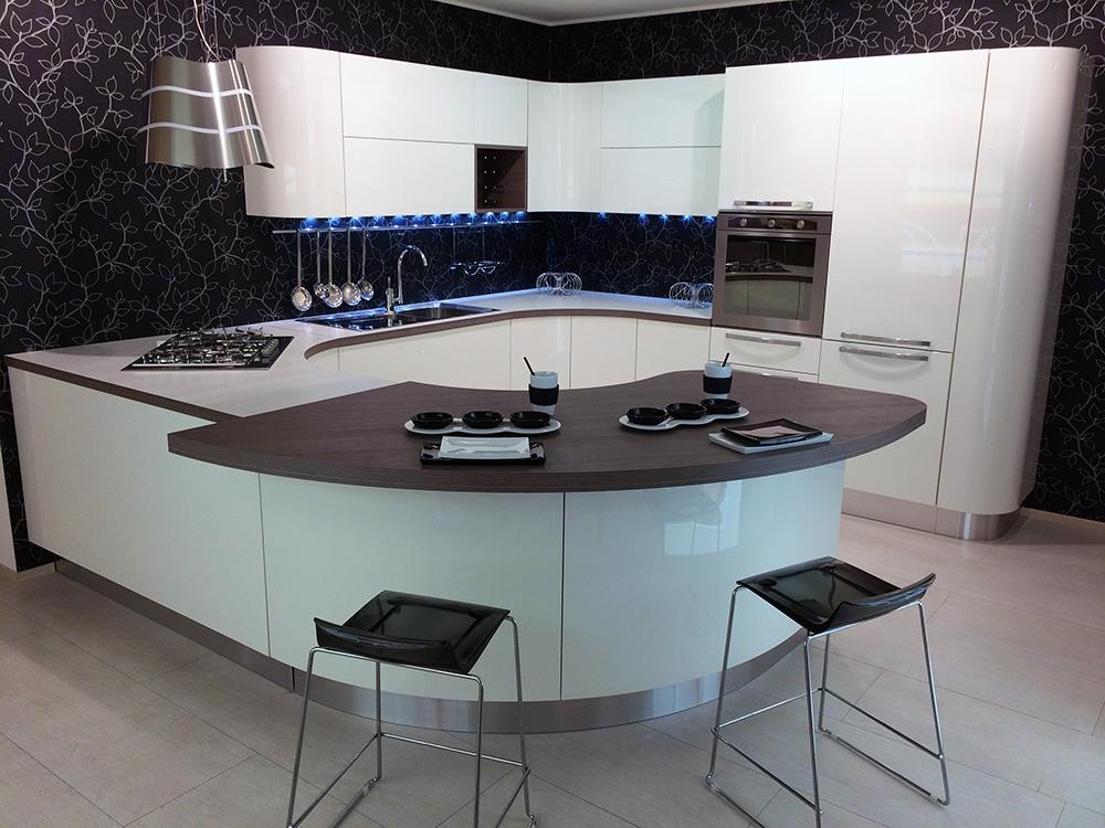 Veneta cucine cucina extra tonda colore bianco scontato - Veneta cucina prezzi ...