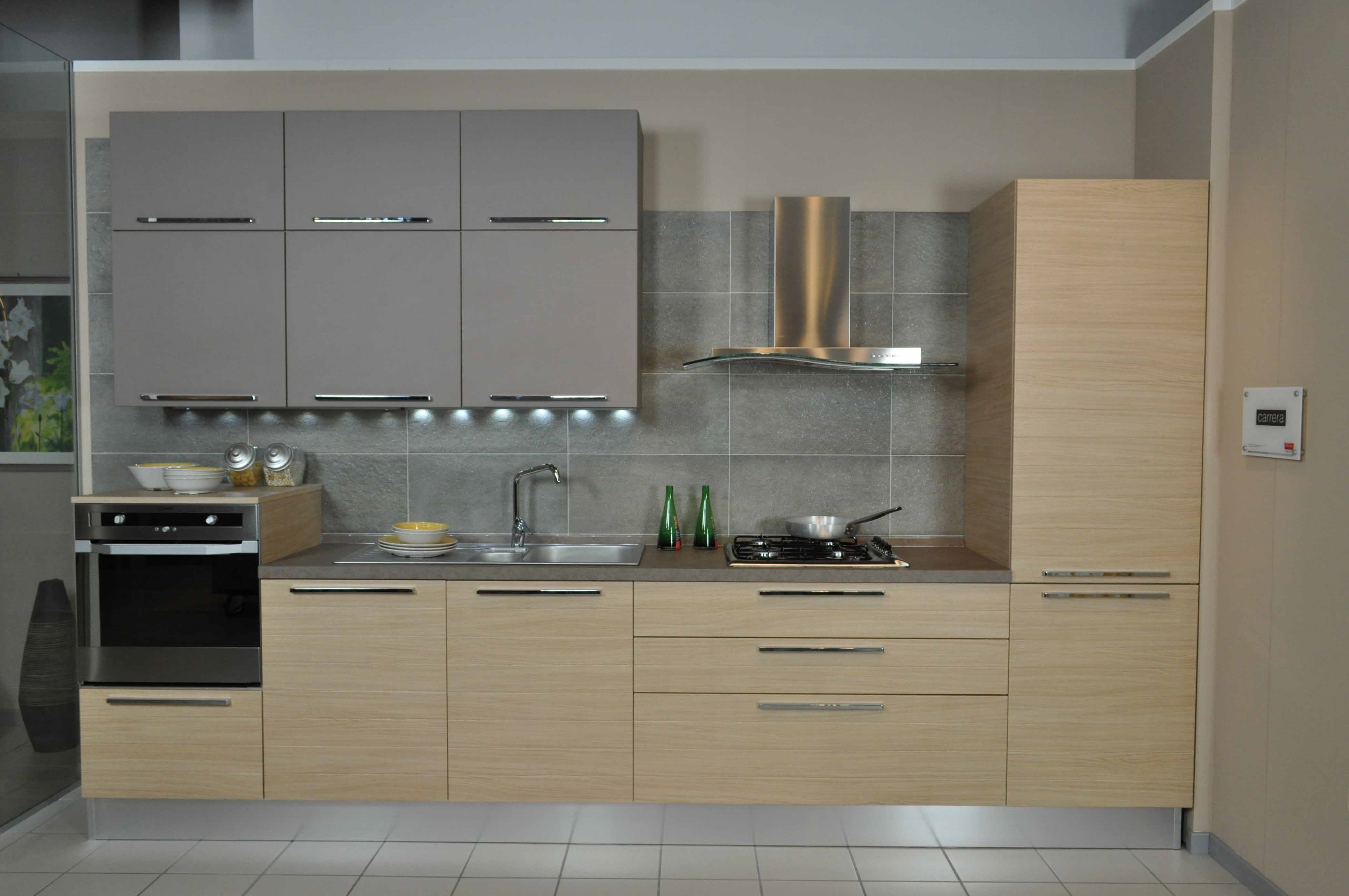 Veneta Cucine Modello Carrera Doghe Completa Di Elettrodomestici E  #7D694E 4184 2779 Veneta Cucine O Aran