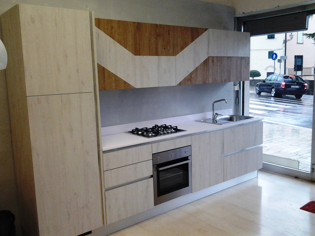 Vismap cucina modello gioia in laminato materico cucine - Laminato in cucina ...