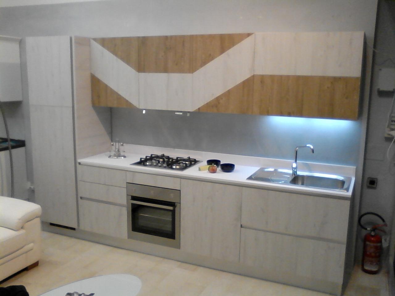 Vismap cucina modello gioia in laminato materico cucine a prezzi scontati - Costo top cucina laminato ...
