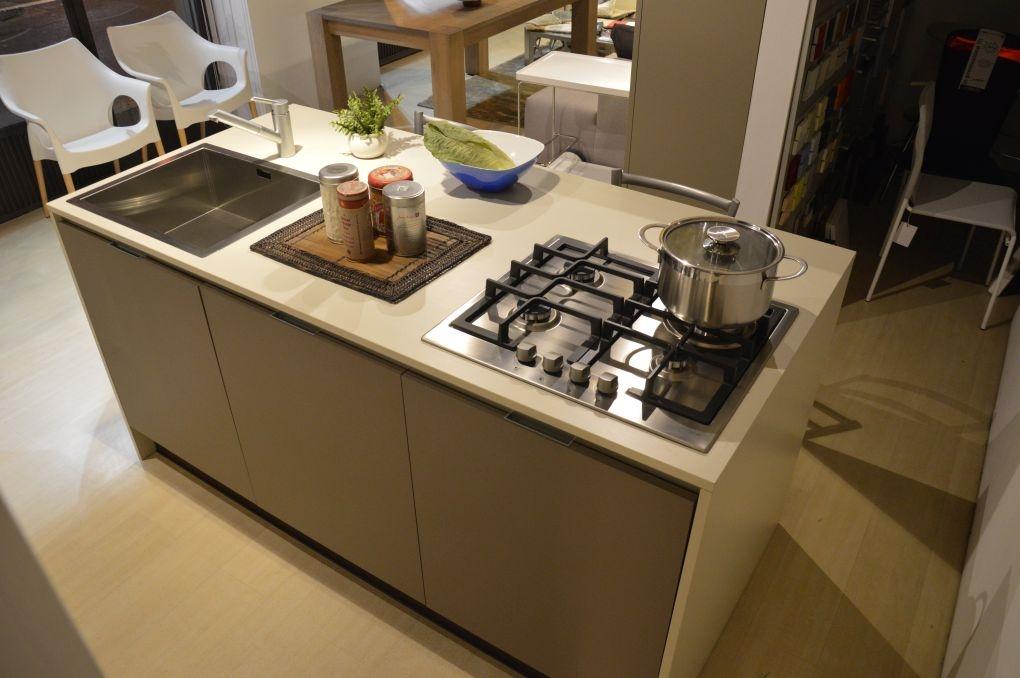 Cucina isola laminato materico rovere chiaro scontato 50 - Top cucina laminato prezzi ...