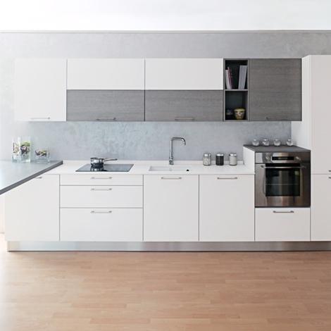 Zecchinon cucina bianca top in quarzo a prezzo di for Cucine di marca a prezzi di fabbrica