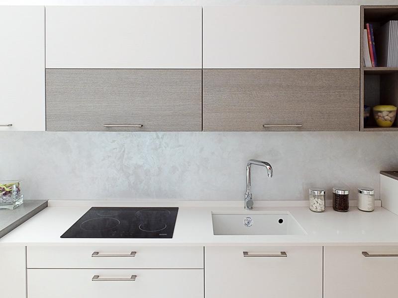 Zecchinon cucina bianca top in quarzo a prezzo di - Top cucina in quarzo prezzi ...