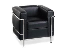 Poltrona Alivar pelle nera Le Corbusier scontata