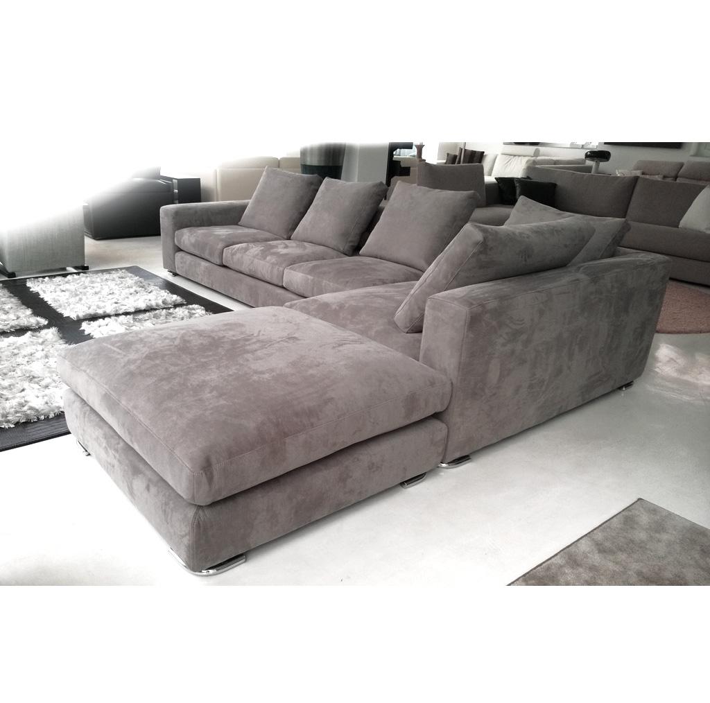 divano letto in pelle angolare design del