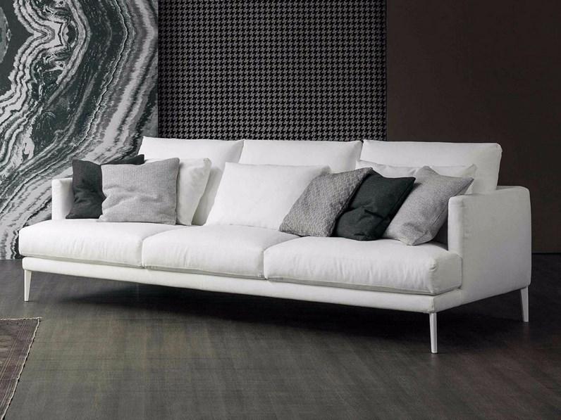 Bonaldo paraiso divano a due posti in pelle for Outlet divani design