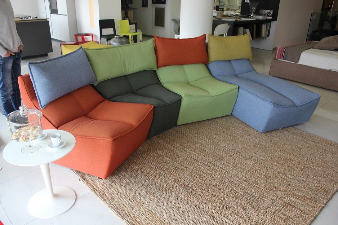 divano calia hip hop tessuto - divani a prezzi scontati