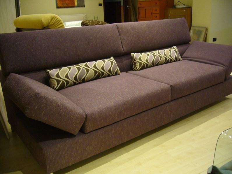 Divano con chaise longue in tessuto sfoderabile aliant di biba for Divani moderni con chaise longue