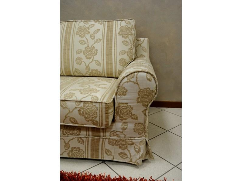 Offerta divani classici in tessuto sfoderabile jacquard
