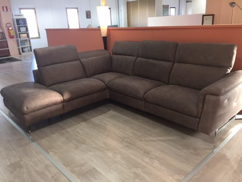 Delta salotti divano lumiere divani con chaise longue pelle - Divano due posti con chaise longue ...