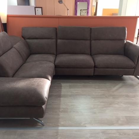 Delta salotti divano lumiere divani con chaise longue for Divani moderni con chaise longue