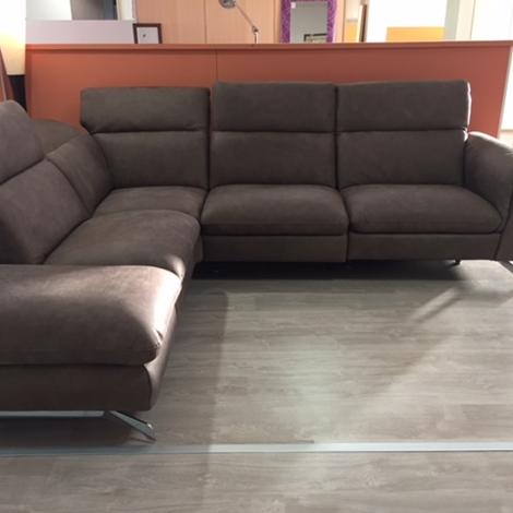 Delta salotti divano lumiere divani con chaise longue - Divano due posti con chaise longue ...