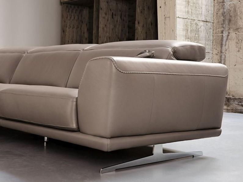 Divano 3 posti con penisola e poggiatesta regolabili - Imbottitura divani poliuretano ...